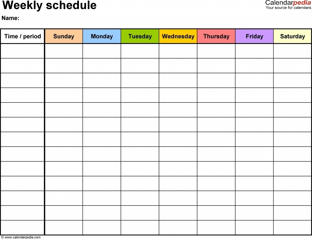 Schedule With 15 Minate Time Slots - Calendar Inspiration