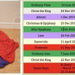 Altar Cloth Colors Calendar 2021