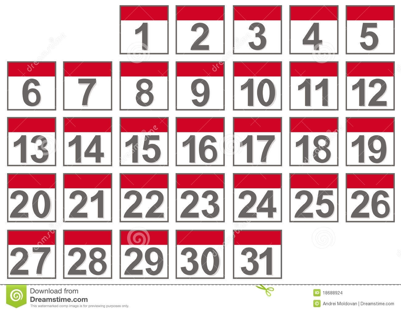 Set Of Calendar Files Stock Vector. Illustration Of Office