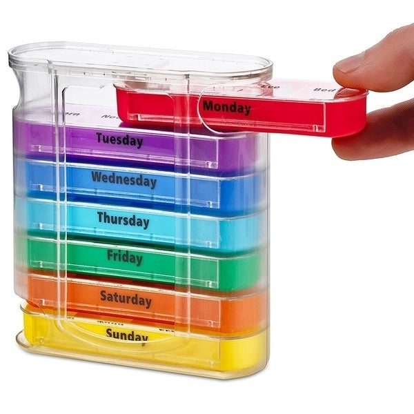 Shop Medca Weekly Pill Organizer Dispenser With Stackable