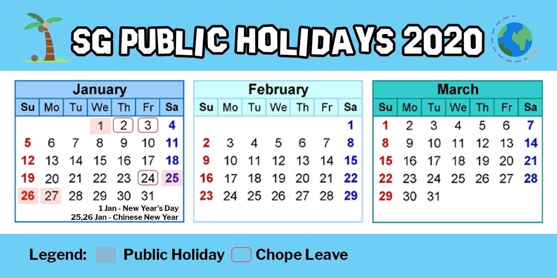 Singapore Calendar 2021 With Public Holidays