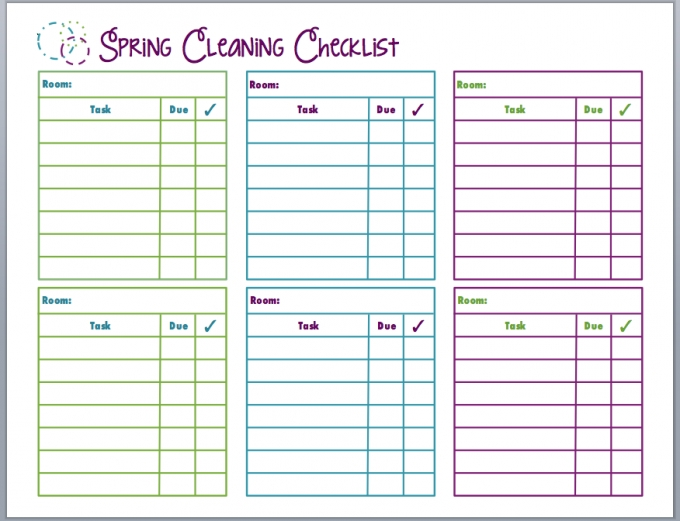 Spring Cleaning Checklist - Free Printable - Mom 4 Real