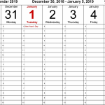 Day Calendar With Times Printable