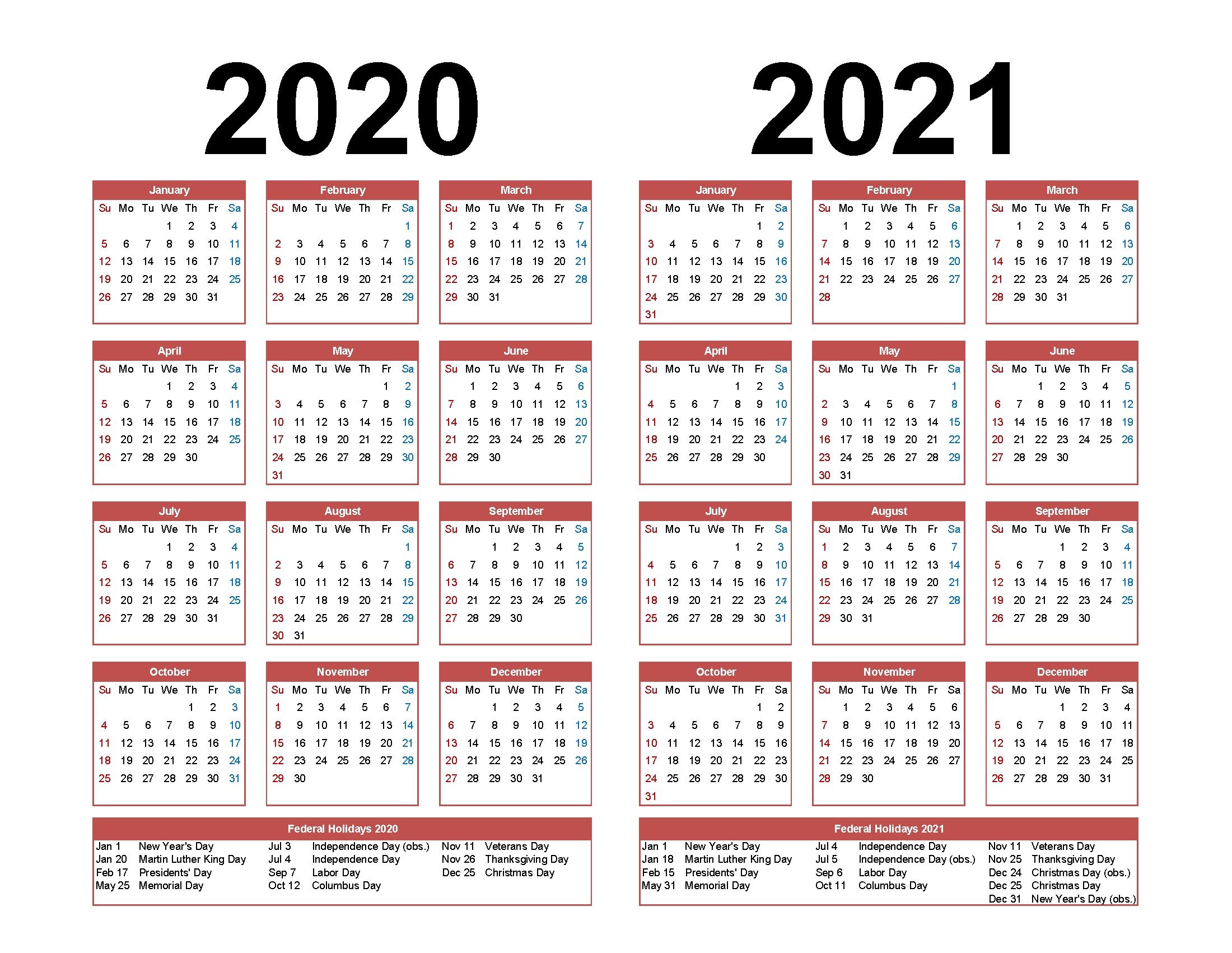 Take Employee Calendar 2020 | Calendar Printables Free Blank