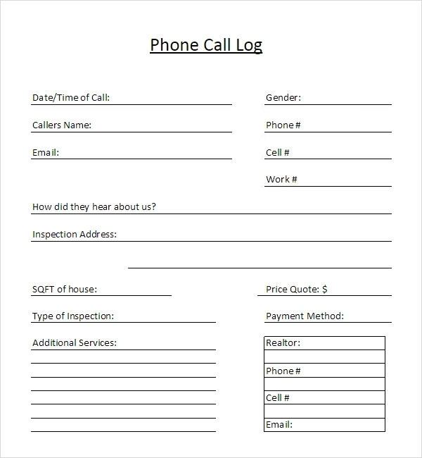 Telephone Call List Templates | 10+ Free Printable Xlsx
