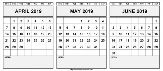 Template Love Trove 3 Month Calendars   Printable Calendar