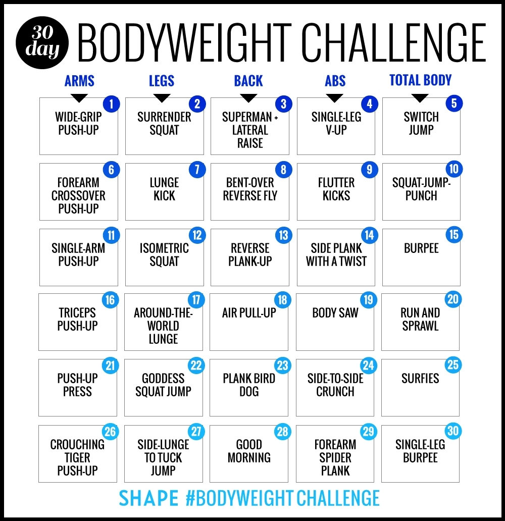 The 30-Day Bodyweight Workout Challenge That Will Burn