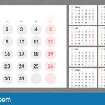 Calendar With Days Number