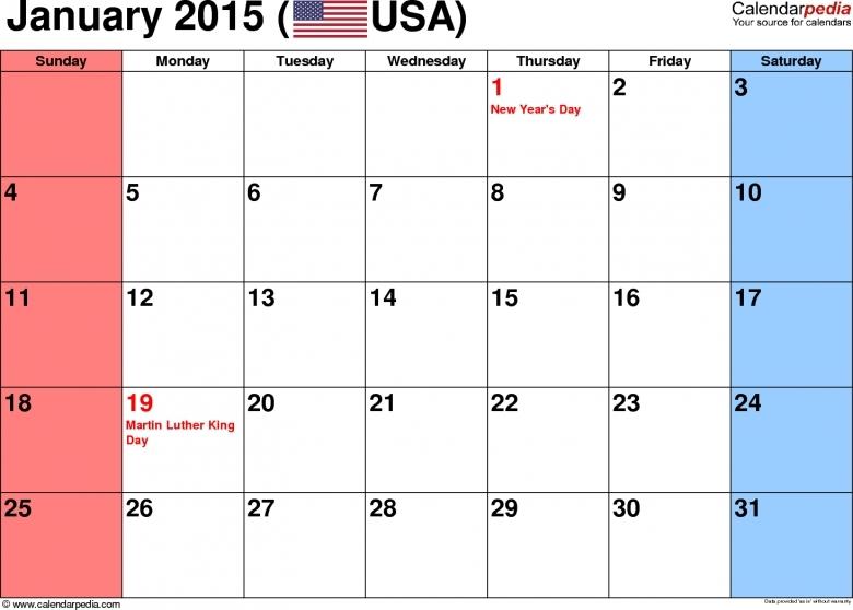 The No Frills Printable Calendar :-Free Calendar Template