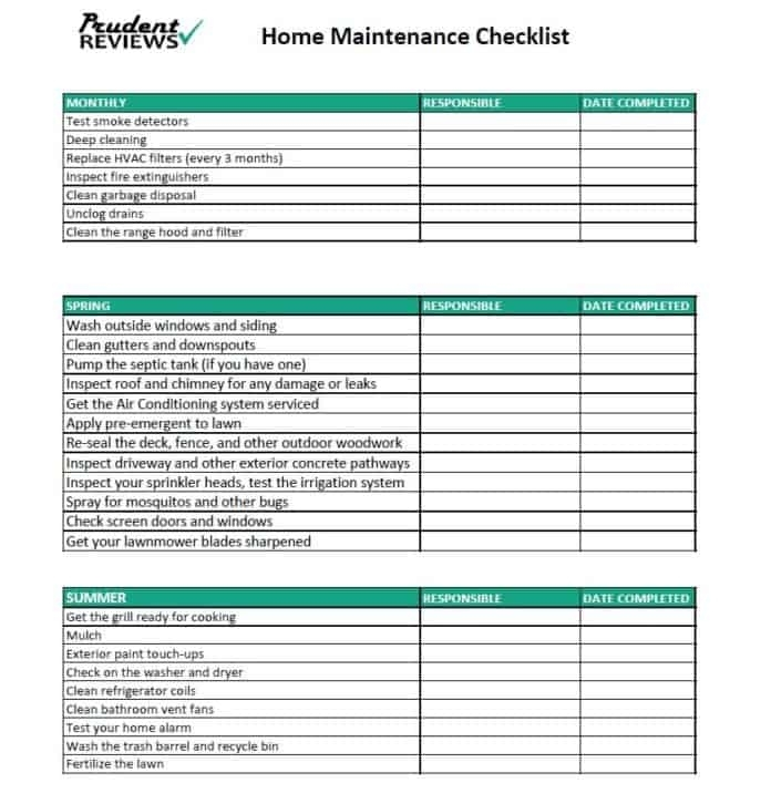 The Ultimate Home Maintenance Checklist (Printable)