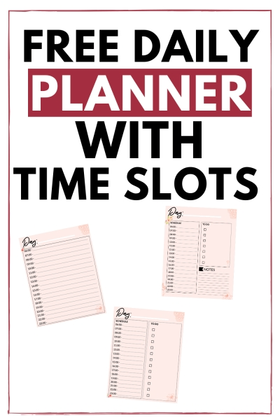 This Free Printable Daily Planner With Time Slots Will Make