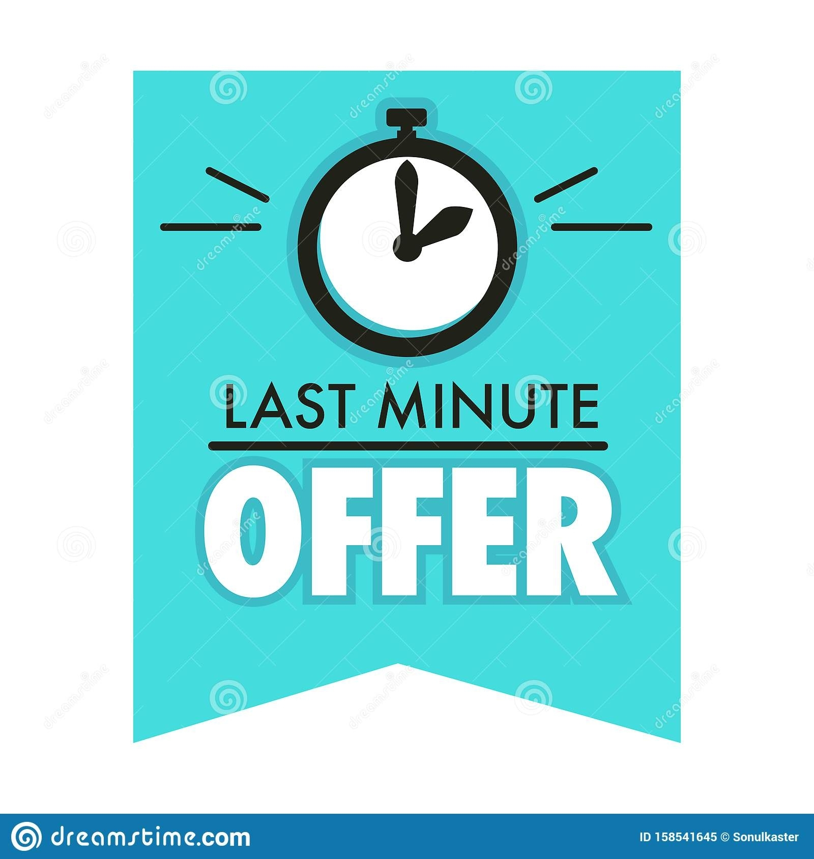 Timer Countdown, Last Minute Offer Isolated Icon, One Day