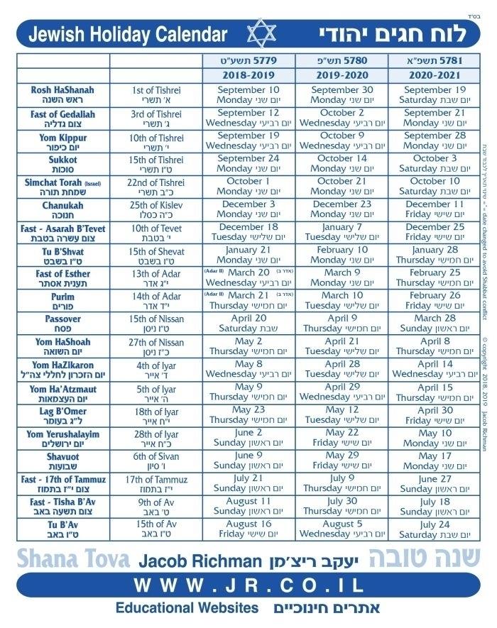 Torah Portion Calendar 2021 | Free Calendar Design For You