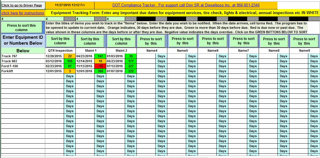Trucking Management Software And Important Date Tracker