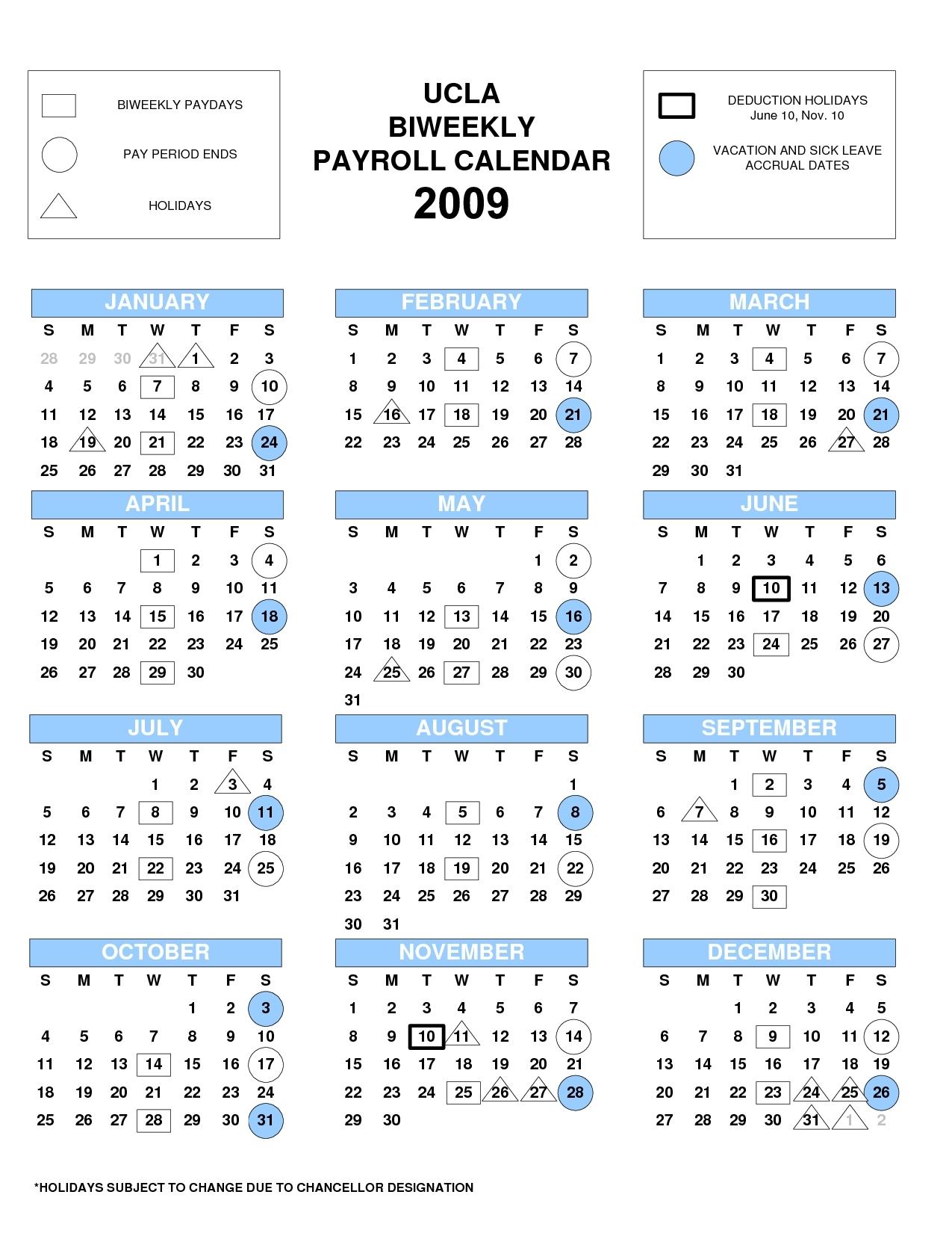 Ucla Biweekly Payroll Calendar 2013 Form Fill Online