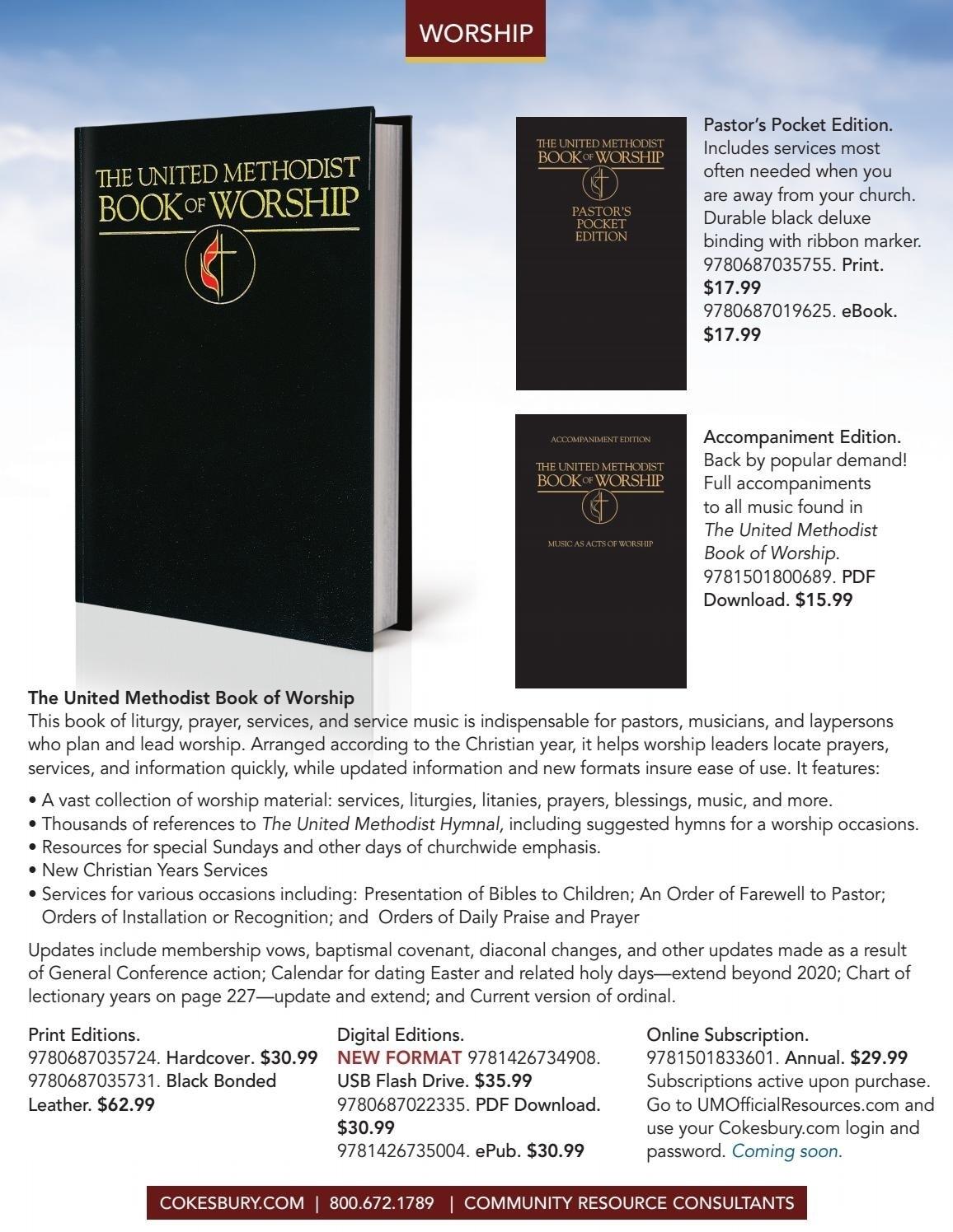 United Methodist Liturgy 2020 – Template Calendar Design