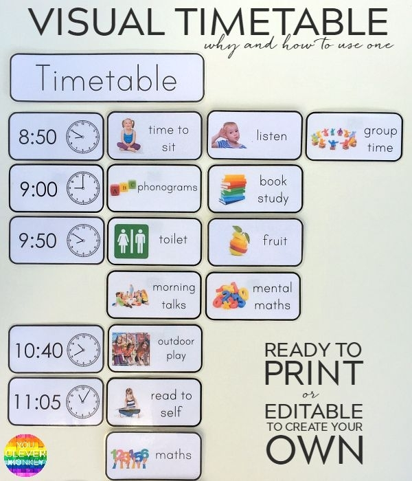 Visual Schedule Template – Task List Templates