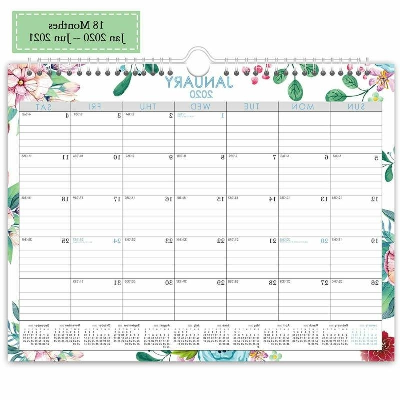 Wall Calendar Day Designer 2020-2021,Monthly And Yearly