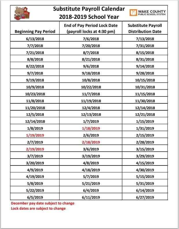 Wcpss Pay Period Calendar 2020 | 2020 & 2021 Pay Periods