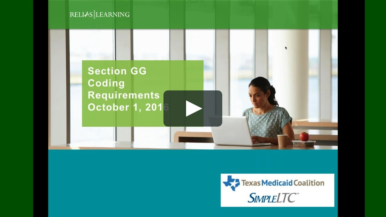 Webinar: Mds 3.0 Section Gg- Completion And Coding