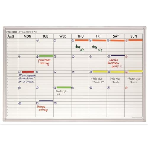 Week Planner Day Grid 108X19 Mm 90X60Cm Wxh Ref Jk715Gb