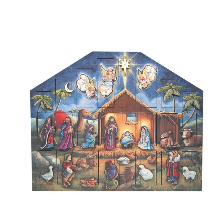 Wooden Nativity Advent Calendar | Calendar Image 2020