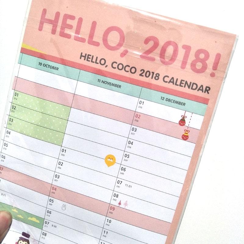 Year 2018 365 Days Drawing Daily Life Countdown Wall