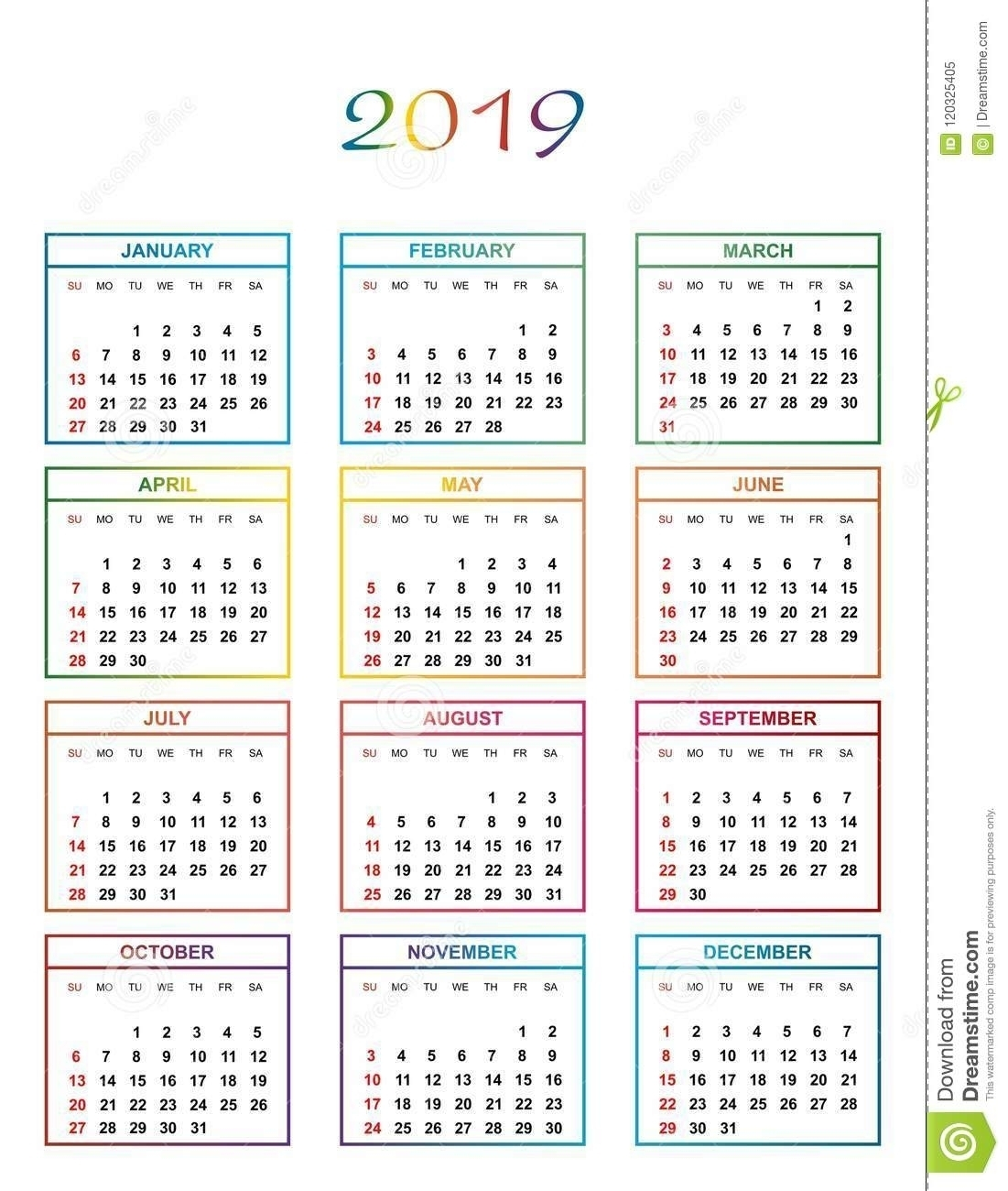 Year Calendar Days Numbered | Ten Free Printable Calendar