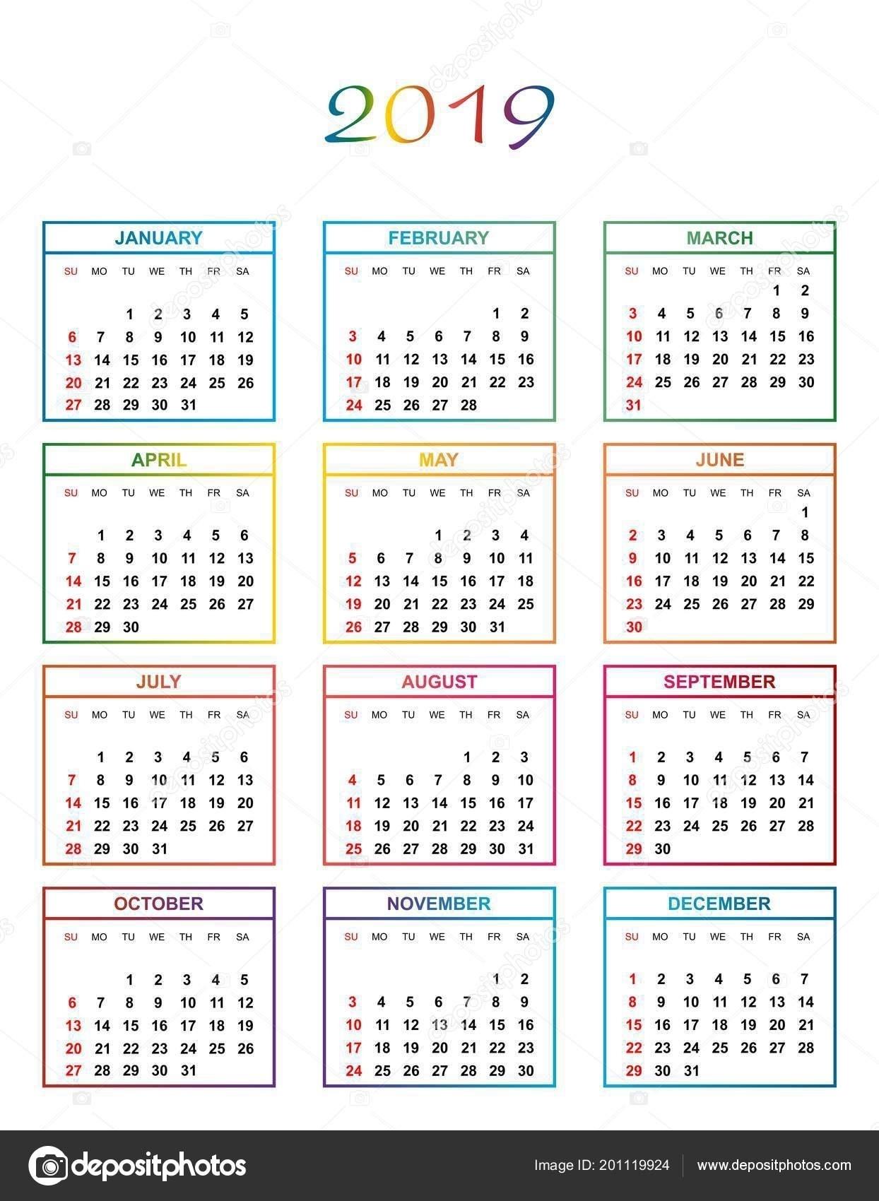 Year Calendar Days Numbered   Ten Free Printable Calendar