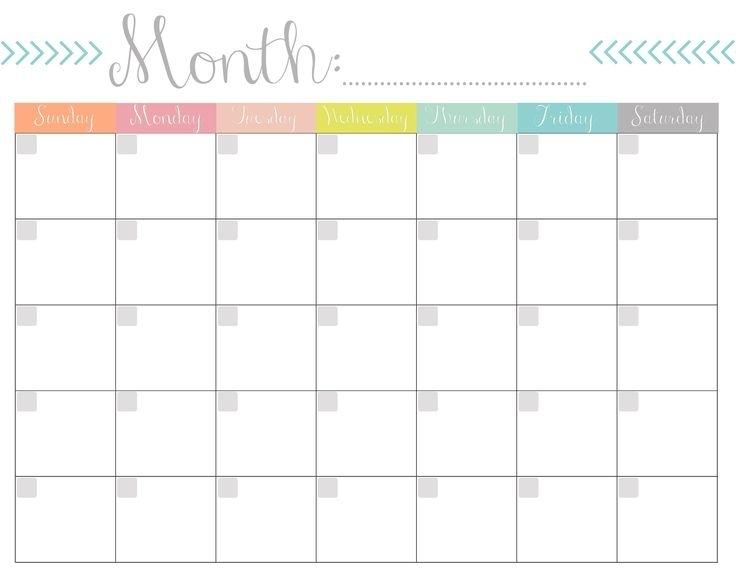 013 Blank Monthly Calendar Template Free Printable Templates Of ~ Ulyssesroom | Free Printable