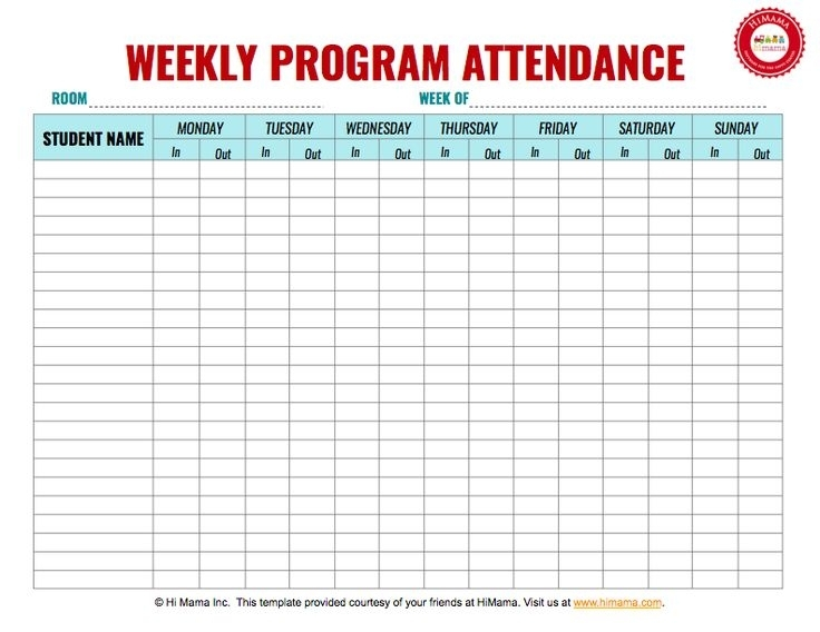 10 Best Daycare Sign In Sheet Templates Images On Pinterest | Daycare Forms, Attendance Sheet