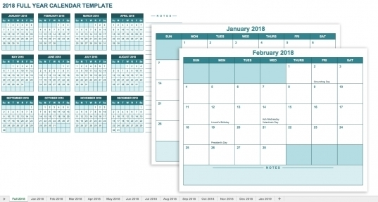 12 Month Calendar Free Template | Printable Calendar Template 2020