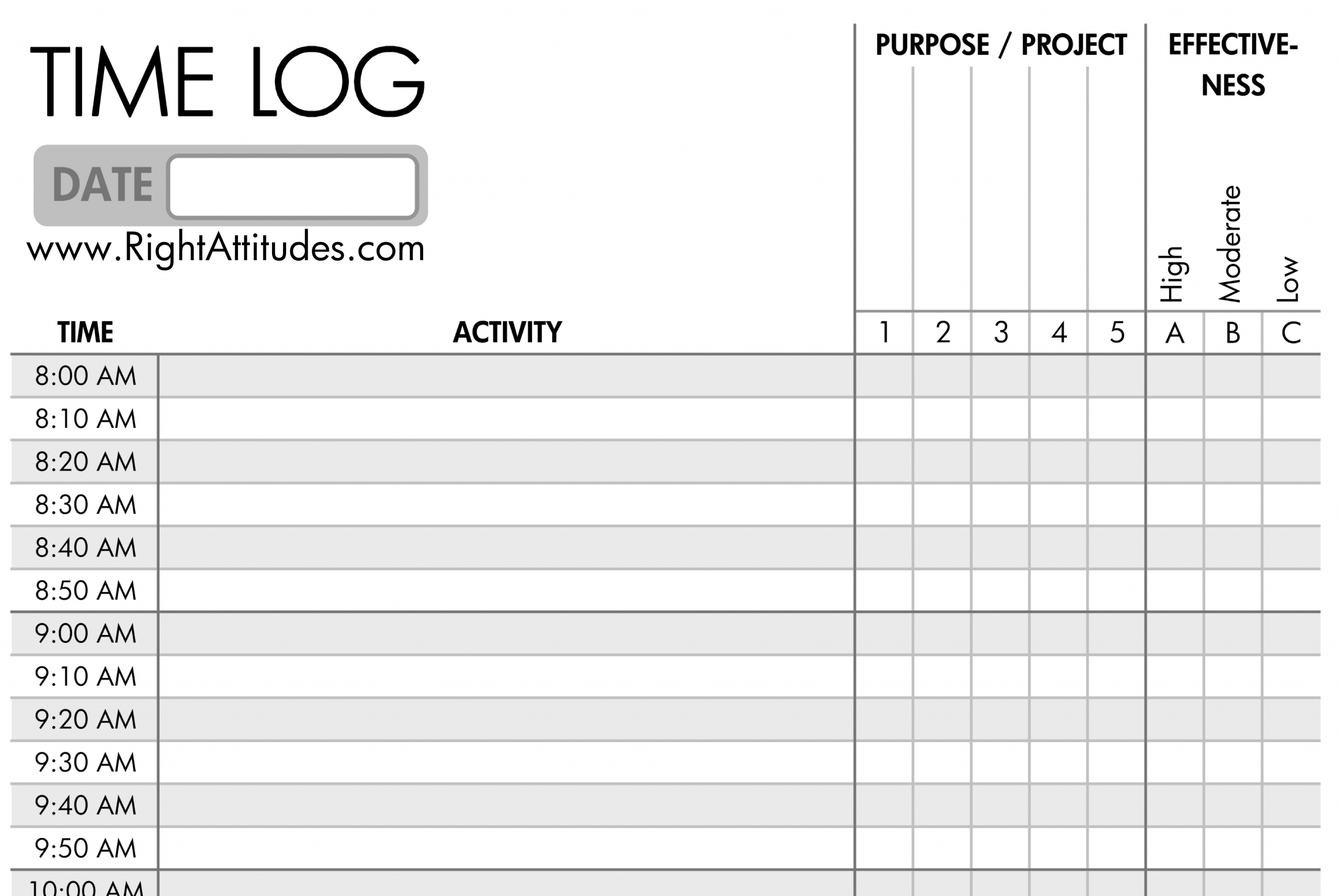 14 Best Images Of Time In 15 Minute Increments Worksheet - Work Time Log Template, 15 Minute
