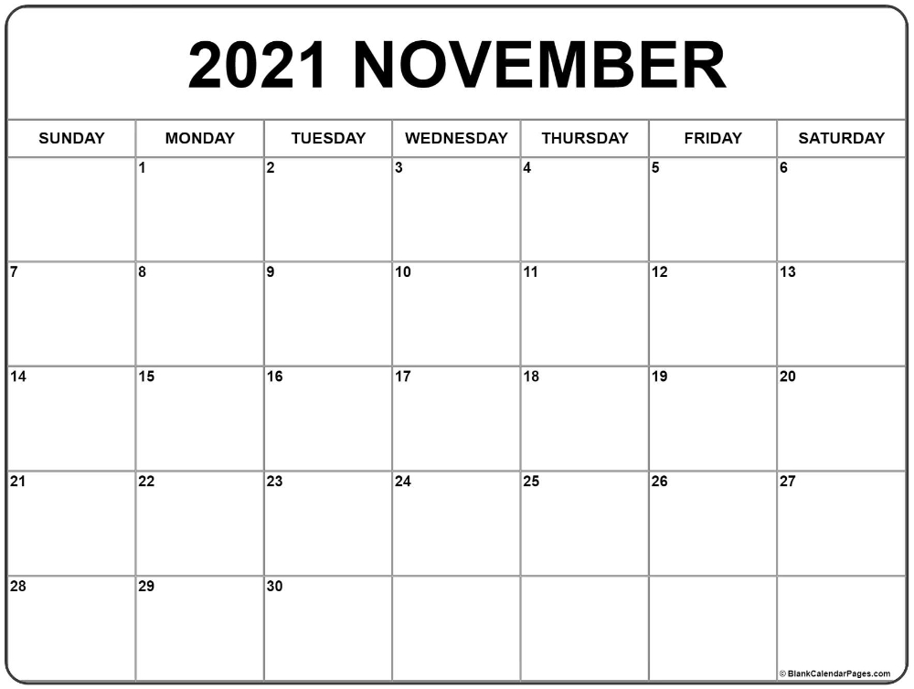 20+ 2021 November Calendar - Free Download Printable Calendar Templates ️