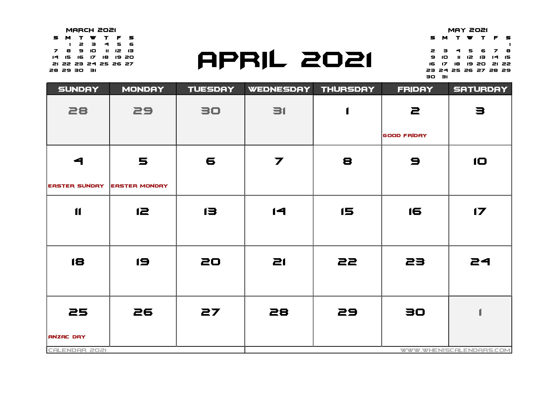20+ Calendar 2021 Australia Public Holidays - Free Download Printable Calendar Templates ️
