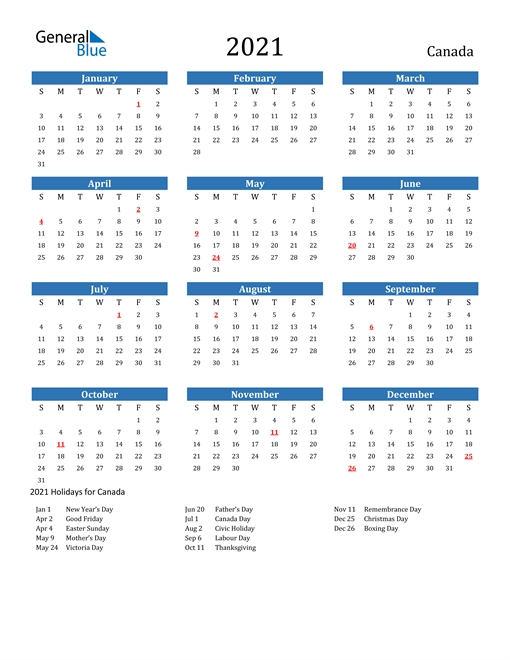 20+ Large Print Calendar 2021 Canada - Free Download Printable Calendar Templates ️