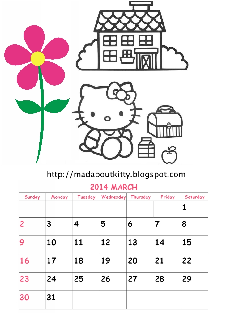 2014 Hello Kitty'S Complete Calendar : Mad About Kitty