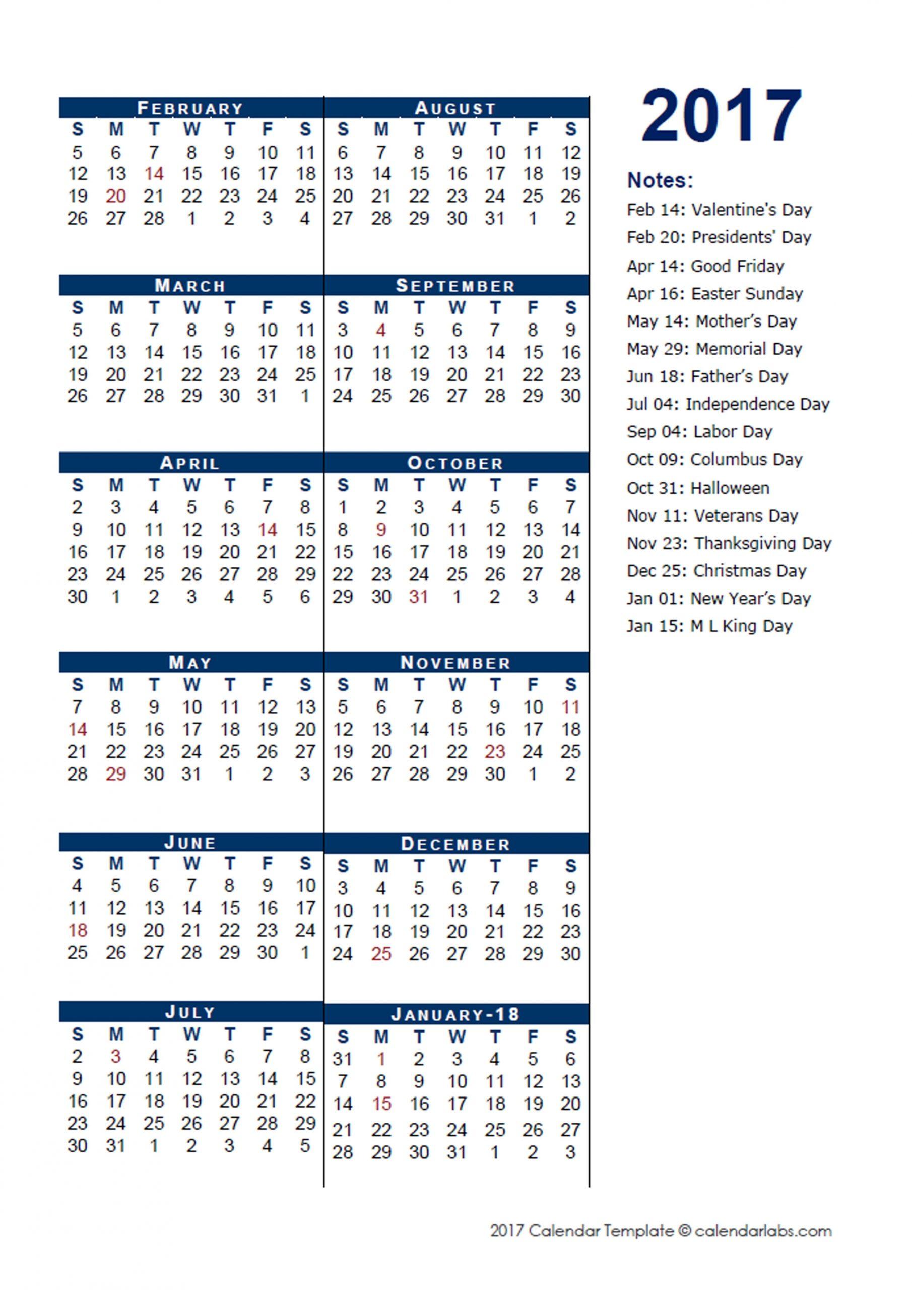 2017 Fiscal Period Calendar 4-4-5 - Free Printable Templates