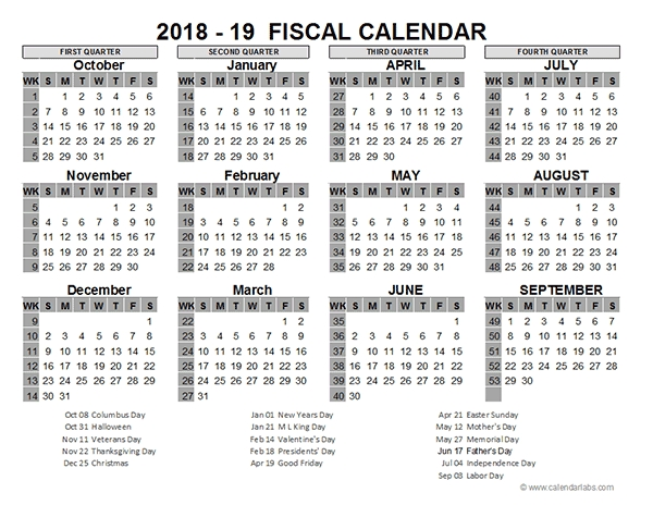 2018 Us Fiscal Year Template - Free Printable Templates