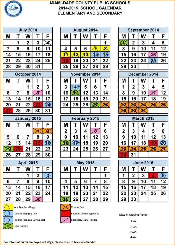 2020 And 2021 School Calendar Miami Dade | 2020Calendartemplates
