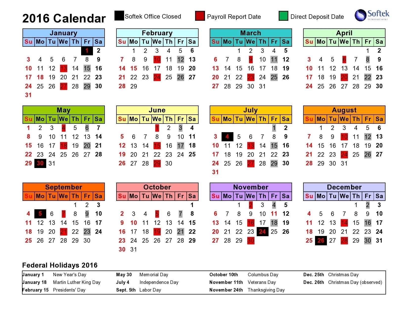 2020 Federal Payroll Calendar Printable - Template Calendar Design