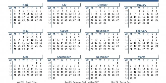 2020 Fiscal Calendar 4 4 5 | Printable Calendar Free - Part 57