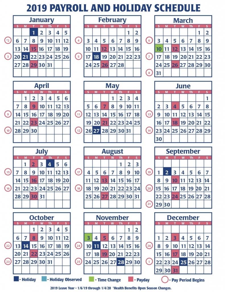 2020 Pay Period Calendar - Calendar Template 2020