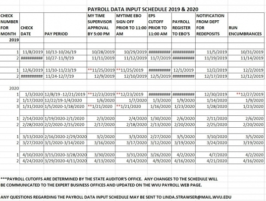 2020 Pay Period Calender | Printable Calendar Template 2020