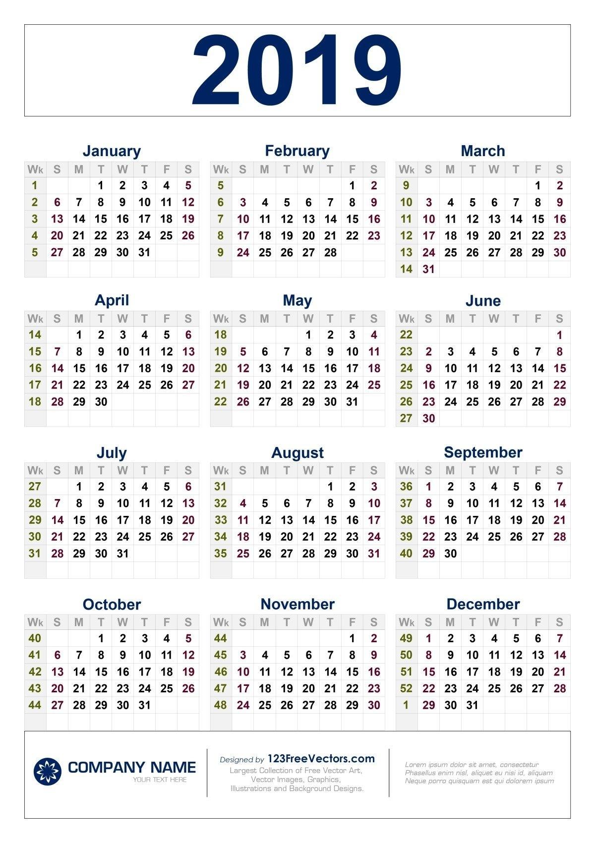 2020 Printable Calendar One Page With Week Numbers | 2021 Calendar Printable