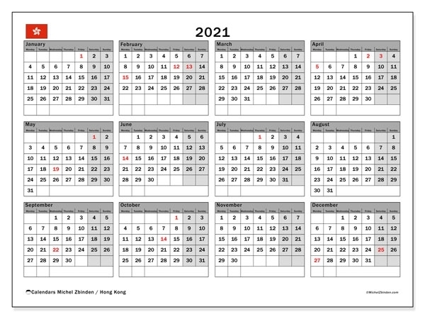 2021 Calendar With Holidays Printable 365 Days | Calvert Giving