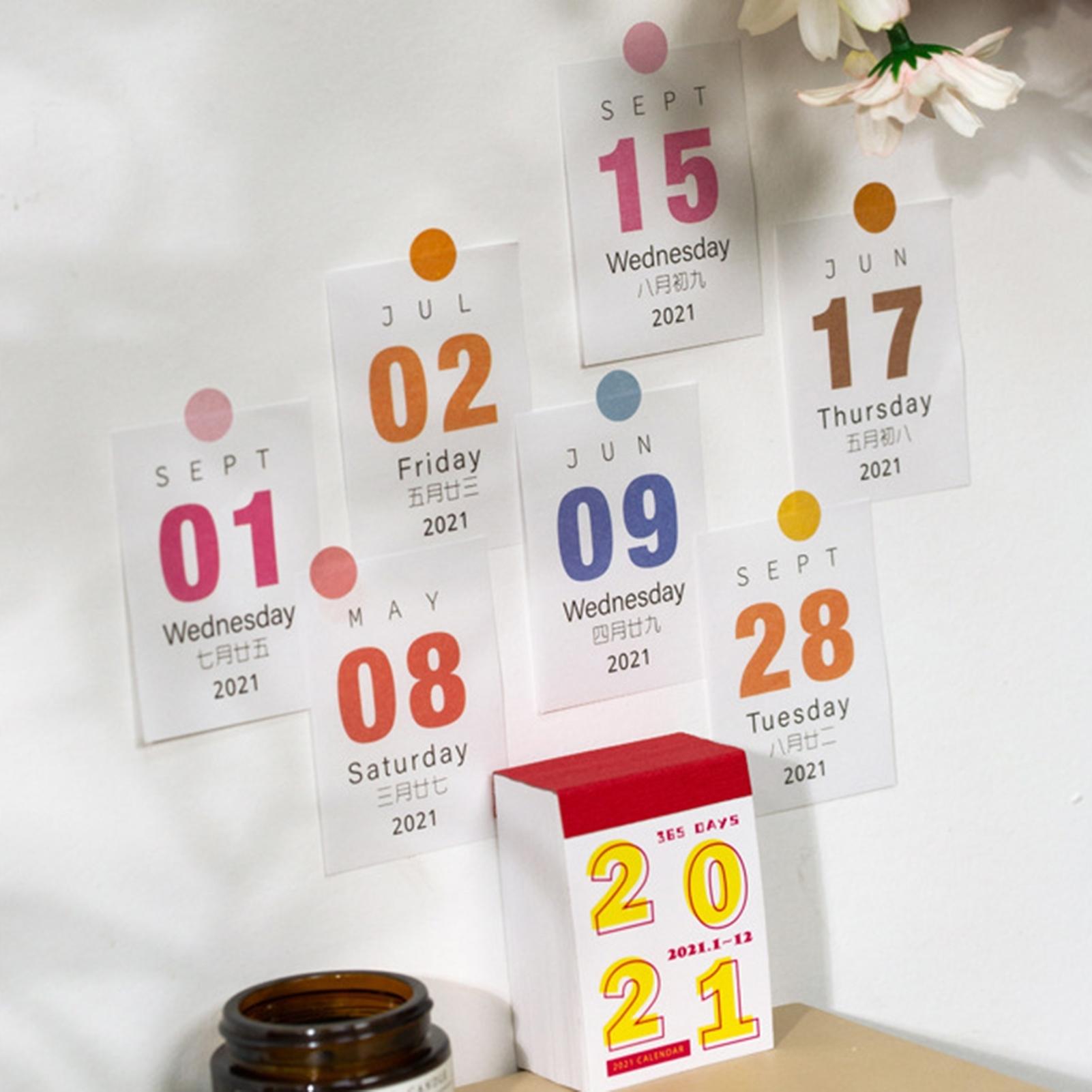 2021 Elegant Mini 365 Days Annual Paper Calendar Memo Daily Scheduler Planner | Ebay