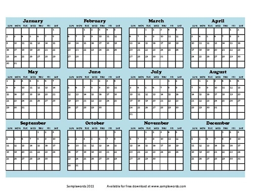 2021 Free Printable Calendar 8.5 X 11 | Calendar And Template