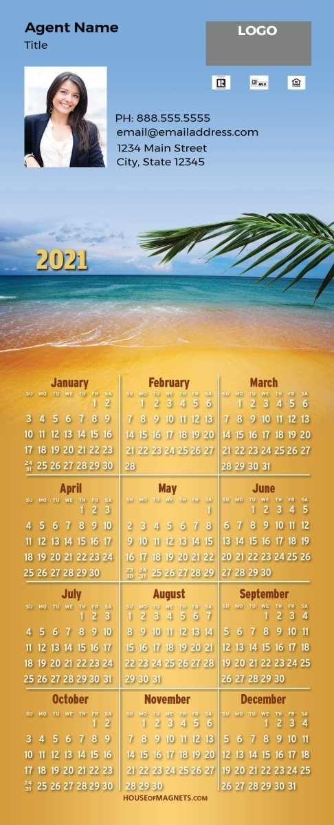 2021 Quickcard Calendar Magnets - Infinite Horizon - Top | House Of Magnets