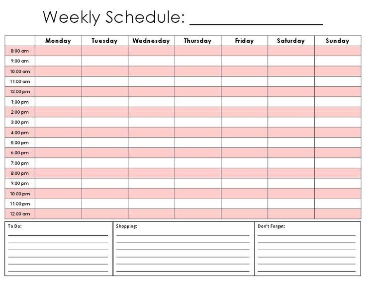 21 Best Schedule Templates Images On Pinterest | Schedule Templates, Cleaning Schedule Templates